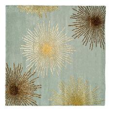 Safavieh SoHo Collection SOH712 Rug, Light Blue/Multi, 8' Square