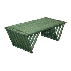 GloDea Wood Coffee Table X90, Alligator Green