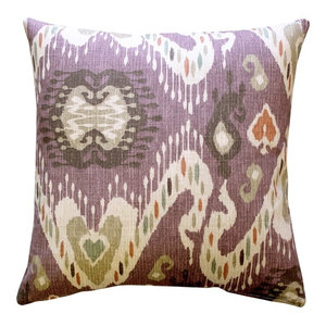 The Pillow Collection Zhambyl Ikat Throw Pillow Cover