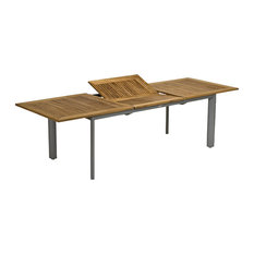 Extendable Outdoor Dining Table, Silver