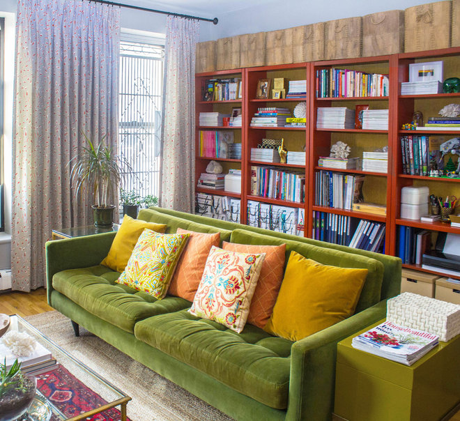 Eclectic Living Room by Sarah Seung-McFarland