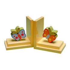 Butterfly Bookends, Yellow