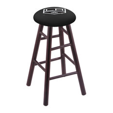 Maple Extra Tall Bar Stool Dark Cherry Finish With Los Angeles Kings Seat 36-inch