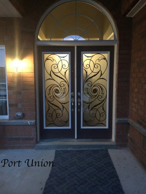 Wrought Iron Decorative Glass Door Inserts
