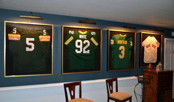 Sport Memorabilia Shadow Box Installation