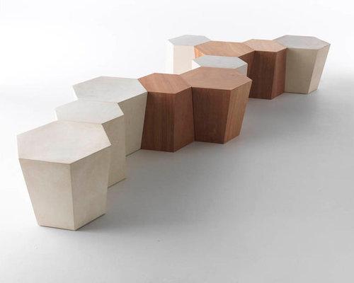 Hexagon stool/side table, designed by Steven Holl - Coffee Tables - Hexagon Stool/side Table, Designed By Steven Holl