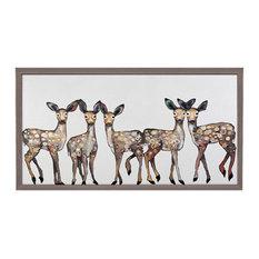 """""""5 Dancing Fawns"""" Mini Framed Canvas by Eli Halpin"""