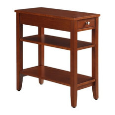 Convenience Concepts American Heritage 3 Tier End Table In Cherry