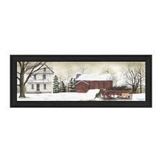 """""""Christmas Trees for Sale"""" By Billy Jacobs, Printed Wall Art, Black Frame"""