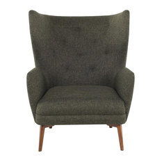 Justin Hunter Green Tweed Occasional Chair