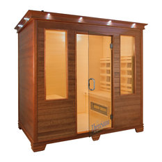 Face-To-Face Infrared Health Sauna, Aspen Wood, 4-Person