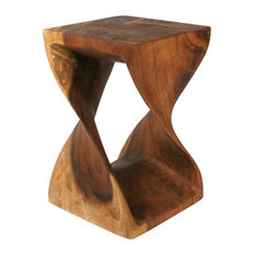 Strata Furniture - Twist Table, 12x18, Black Walnut, 12x18 - Side Tables and End Tables