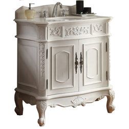Fancy Victorian Bathroom Vanities And Sink Consoles by Chans Furniture