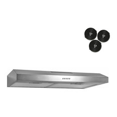 AKDY Home Improvement   AKDY Under Cabinet Kitchen Range Hood Ductless  Cooking Fan, Stainless Steel