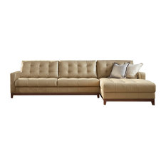 Apartment Leather Sectional Sofas | Houzz