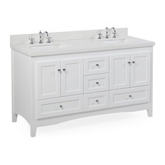 kitchen bath collection abbey 60 bath vanity base white top - Double Sink Bathroom Vanities