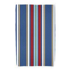 Multi-Stripe, Stripe Print Beach Towel, Blue