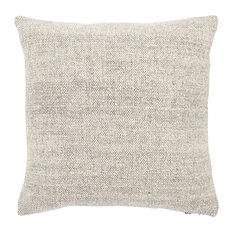 "Jaipur Living Tweedy Berry Cream/Gray Solid Down Throw Pillow 22"", Cream/Black,"