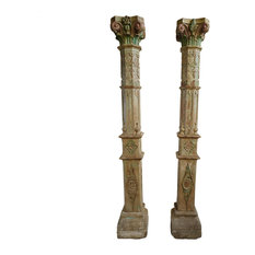 Consigned Pair of Colonial India Columns