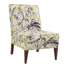 Linon Home   Carmen Slipper Chair, Floral   Armchairs And Accent Chairs