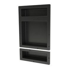 Tile Redi RNT1620DU-6 Triple Niche Set, Recessed Shower Shelves