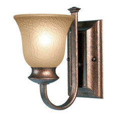 Dresden Wall Sconce, Marbled Bronze