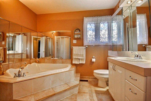 What To Pair With Peach Tiles, What Colours Go With Peach Bathroom Tiles