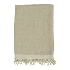 "Chambray Solid Throw, 50""x70"", Linen Stone"