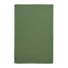 Colonial Mills, Inc - 8' Square (Large 8x8) Rug, Moss Green Textured Braided Indoor/Outdoor Carpet - Outdoor Rugs