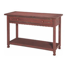 Country Cottage Console Red Antique