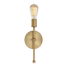 1-Light Wall Sconce, Natural Brass