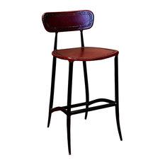 Fabulous Burgundy Bar Stools Counter Stools Houzz Machost Co Dining Chair Design Ideas Machostcouk