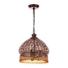 "Safavieh Sultan Jeweled 3-Light Bronze 13.5"" Pendant"