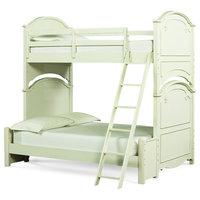 Emma Mason Signature Carmela Twin Over Full Bunk Bed, Antique White LEG0310
