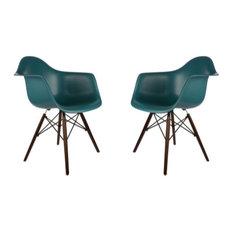 Edgemod Furniture   Poly and Bark Vortex Arm Chair Walnut Leg  Teal  Set ofHigh Tech Armchairs and Accent Chairs   Houzz. High Tech Arm Chairs. Home Design Ideas