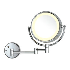 """Ucore 8.5"""" Wall-Mounted 5X Magnifying Makeup LED Mirror"""