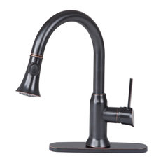Single Handle Pull Out Kitchen Faucet in Oil Rubbed Bronze