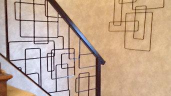 Custom Wrought Iron Interior Railings Inspired by Modern Artwork