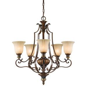 5-Light Chandelier, Firenze Gold-British Bronze