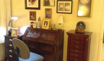 Senior lady's desk space in retirement community