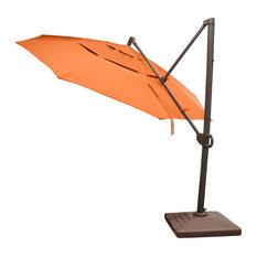 Calais 11' Cantilever Parasol Umbrella, Canvas Tuscan