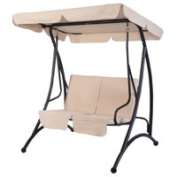 Modern 2-Person Patio Canopy Swing Chair