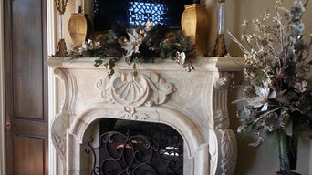 Latte Fireplace with overmantel Niche