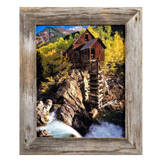 mybarnwoodframes barn wood picture frame homestead 15 rustic reclaimed wood frame 8x12