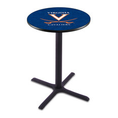 L211 - 42-inch Black Wrinkle Virginia Pub Table By Holland Bar Stool Co.