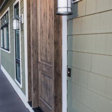 Expansive Wood Front Door