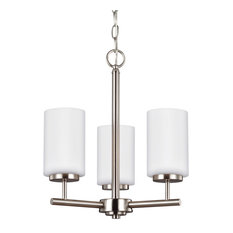 Sea Gull Lighting 31160 Oslo 3-Light Pillar Candle Chandelier