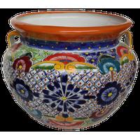 Medium Multicolor Talavera Ceramic Pot