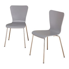 Pavia Bentwood Chair, Gray, Set Of 2
