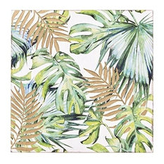Madison Park Leaf Wall Art in Green/Natural Finish MP167-0238